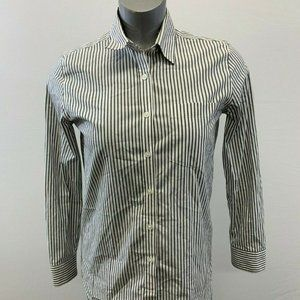 Banana Republic Women's XS Long Sleeve Gray Stripe